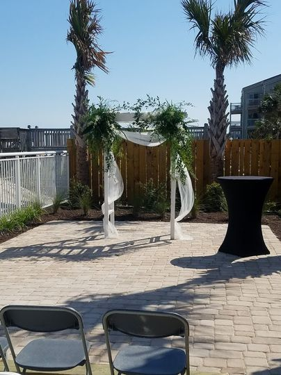 Deck area as ceremony option
