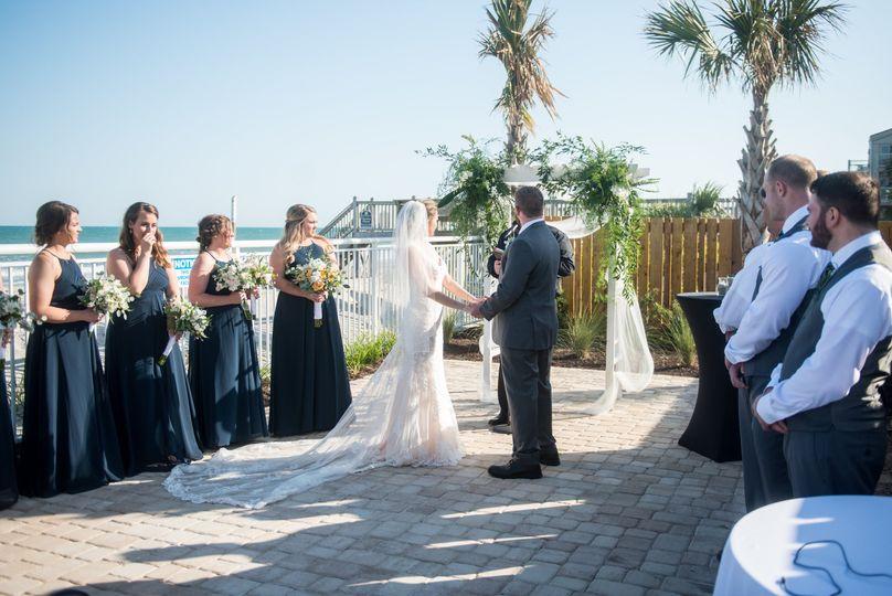 Coastline Deck Wedding