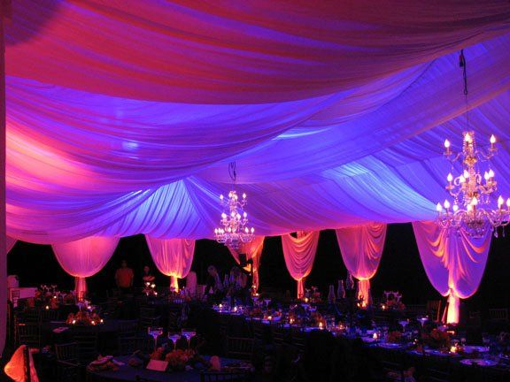 Backlighting of a tent liner, color can be changed in moments to suit your color scheme