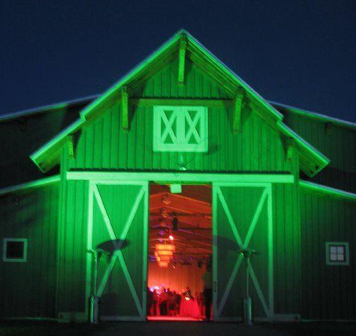 Entry lighting at a Western wedding