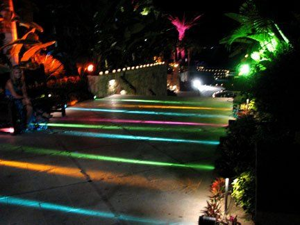 Pathway lighting for ambiance and safety