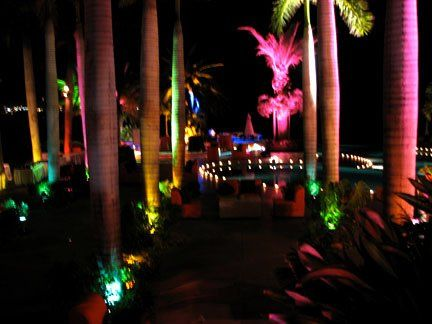 Dramatic landscape lighting in Mexico