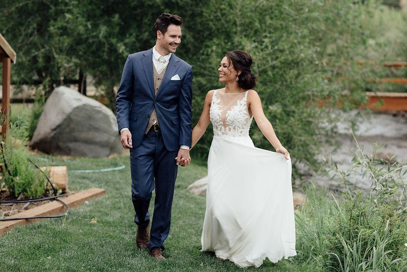 Take a walk along the South Fork as the new Mr. & Mrs.
