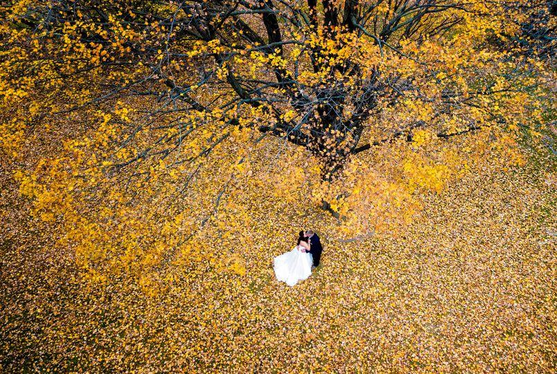 Fall wedding in Wisconsin