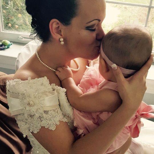 Bride & her baby