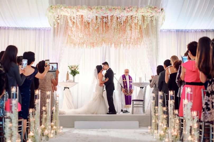 Stunning Ceremony First Kiss!