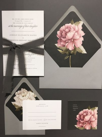 Grey invitation suite