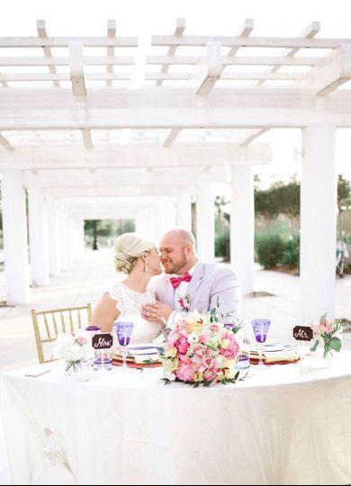 Elopement Wedding - Head table