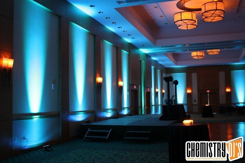 Blue uplights