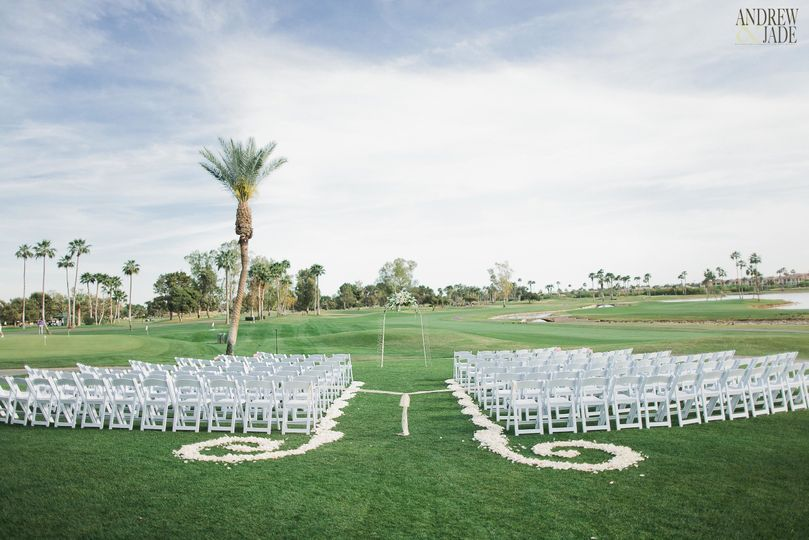 Ceremony at McCormick Ranch Golf Club -  Andrew + Jade Photography