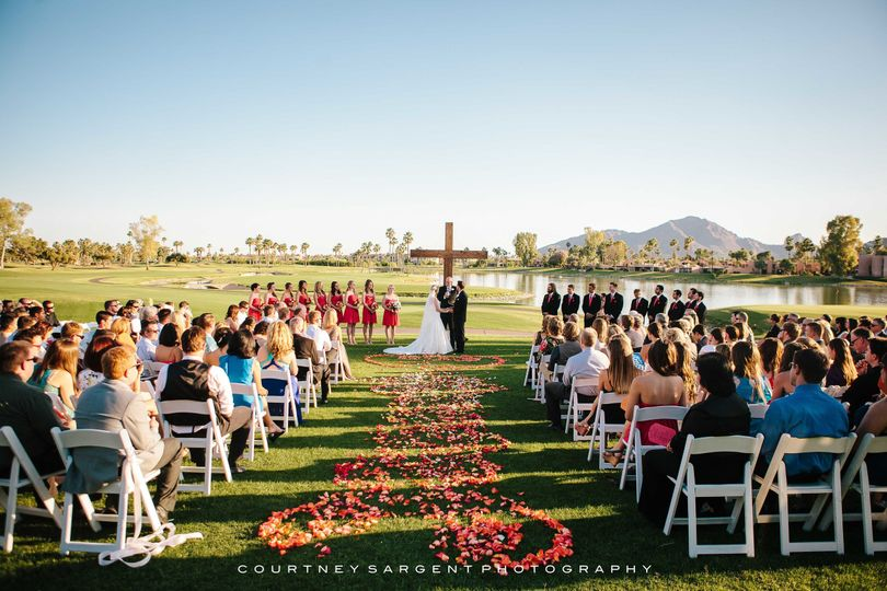 Ceremony at McCormick Ranch Golf Club - Courtney Sargent Photography