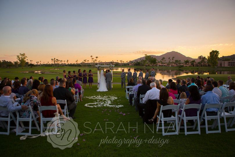 Ceremony at McCormick Ranch Golf Club - Sarah Neal
