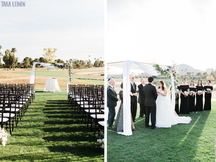 Ceremony at McCormick Ranch Golf Club - Tara Leinen Photography