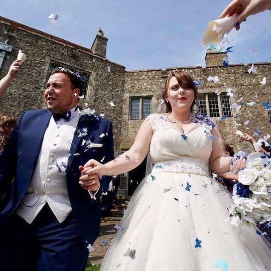 Confetti shot.  Lympne Castle - Kent
