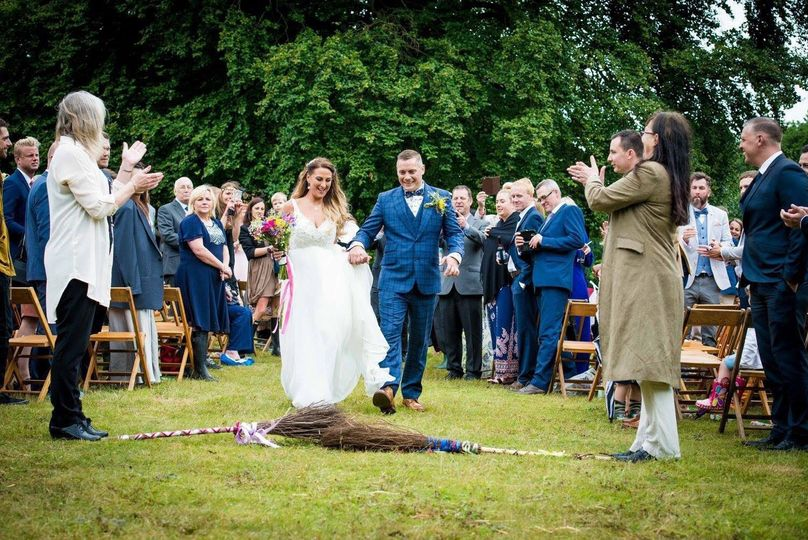 Festival Wedding - Jumping the broomstick - Kent