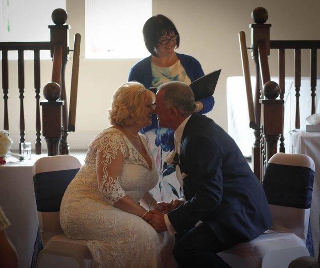 Wedding Vow Renewal ceremony - celebrating 30 years. Hotel Barn conversion in Ashford, Kent