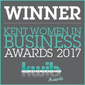 Winner of Kent Women in Business - 2017 - Professional Achievement award.