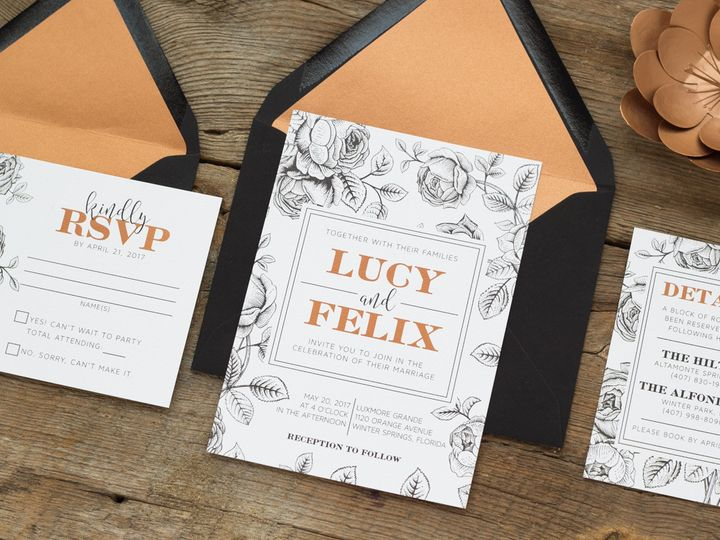 Tmx 1467302276982 Lucy2 014 Forest City wedding invitation