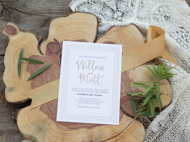 Tmx 1467302444146 Willow2tree 007 2 Forest City wedding invitation