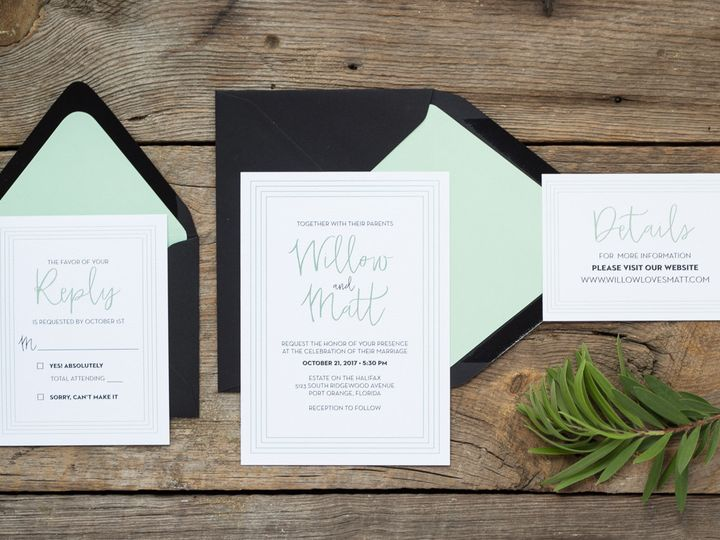 Tmx 1467302456002 Willow2 004 Forest City wedding invitation