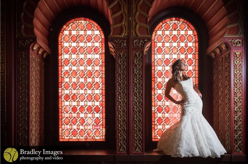 Bridal photo in the Oriental Ballroom
