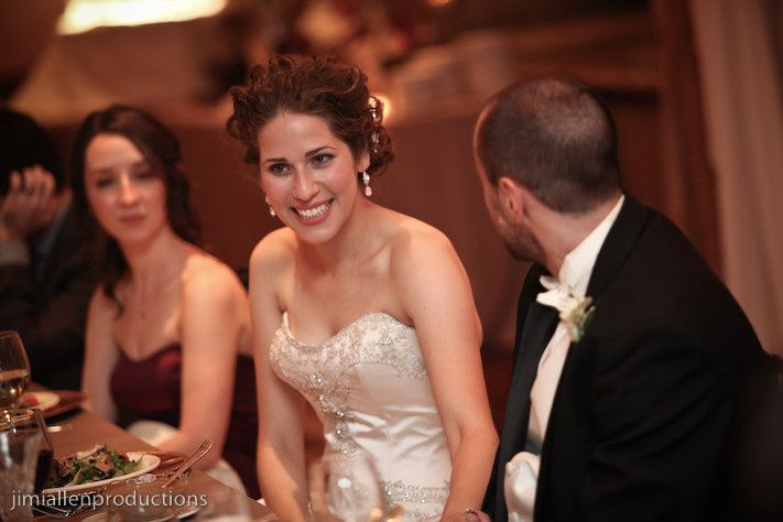 Bride with the guests