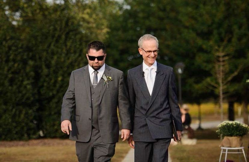 Reverend and the groom