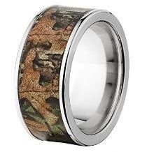 """Custom made in the USA, the """"Calhoun"""" camouflage wedding ring features an ultra scratch resistant..."""