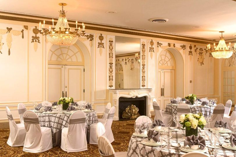 Louis XVI Room, perfect for smaller Weddings and Rehearsal Dinner Events.