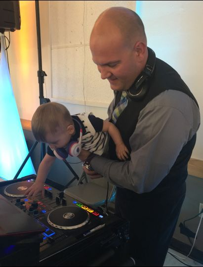 DJ Cox with apprentice (Son) Xander