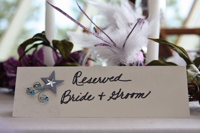 Place card, Bride & Groom