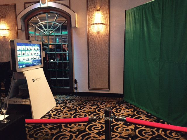 The TapSnap Kiosk and Green Screen has a very attractive and elegant set up.