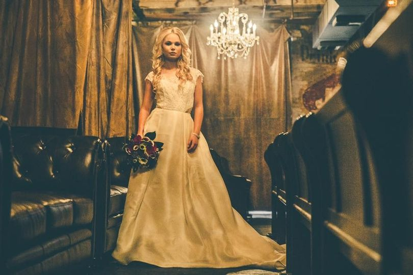 Bride in the lounge