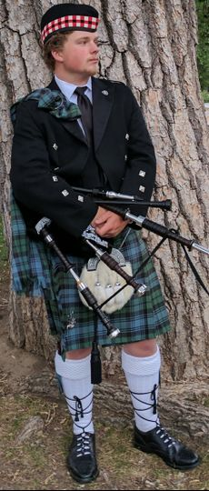 The musician and his bagpipe