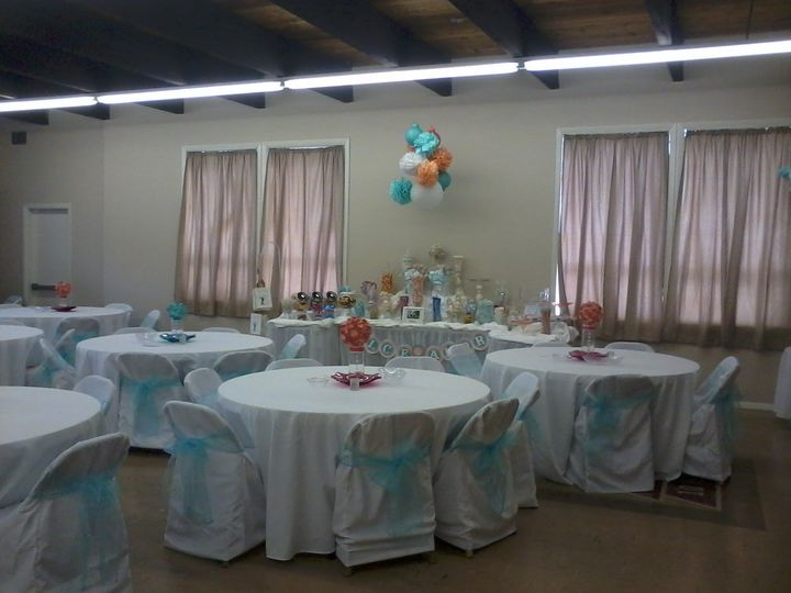 Reception Hall decorated for an event