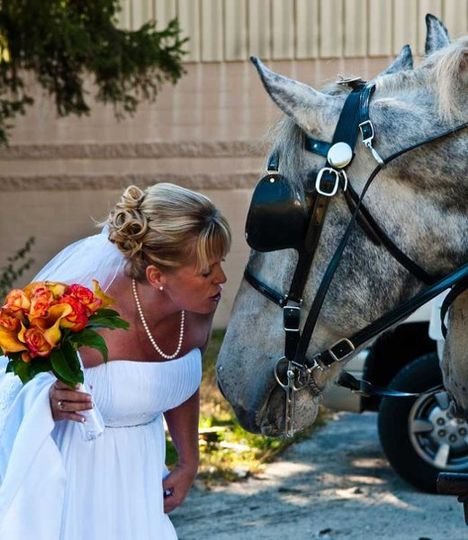 We love this picture of Doreen giving Ted a smooch, just before the wedding!