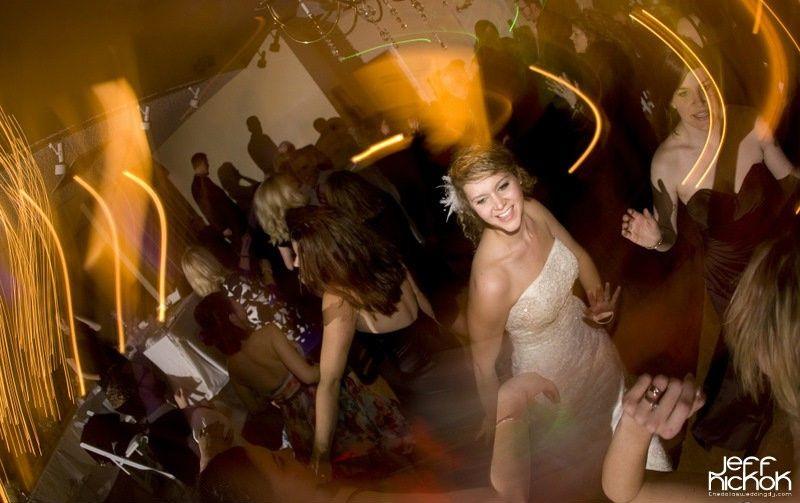 Blurry girls dancing