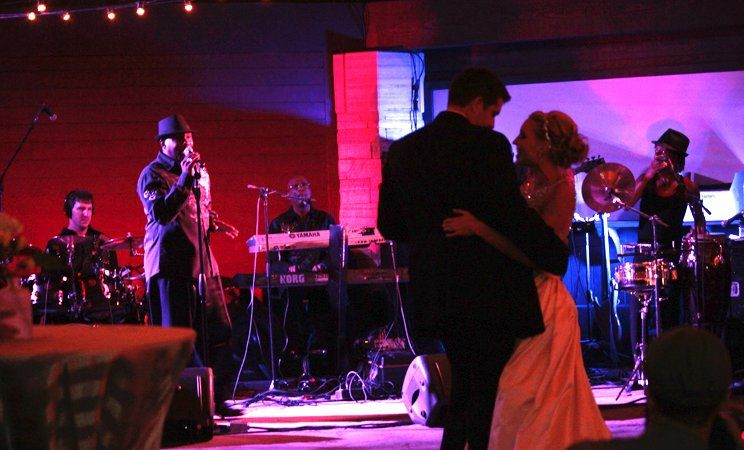 Soul School performing a custom song for the first dance
