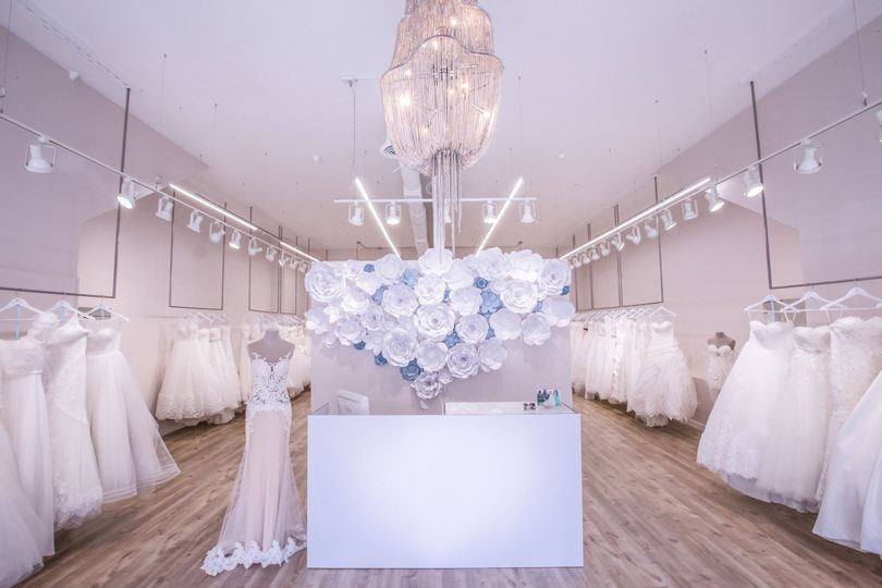 Our front desk awaits you. Come book an appointment with us to find the dress of your dreams!
