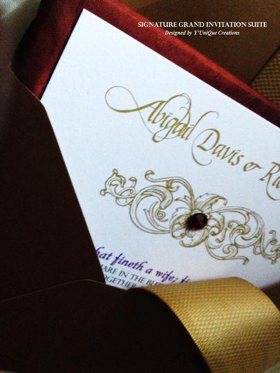 Elegant Arabian Night Invitation Suite
