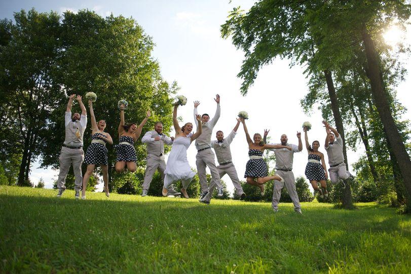 Maryland wedding photography, bridal party fun wedding photos