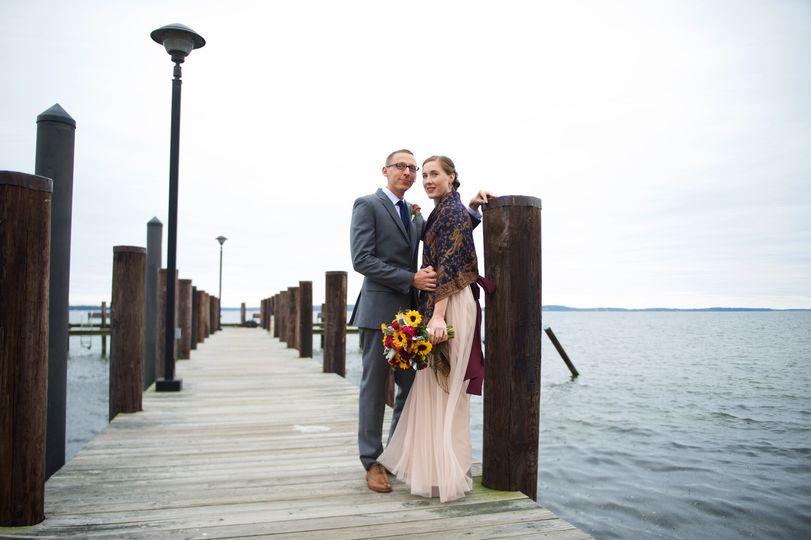 Wedding photos at the vandiver inn, havre de grace, maryland