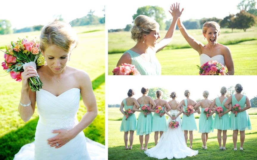 outdoor wedding photos in maryland, brides maid wedding photos