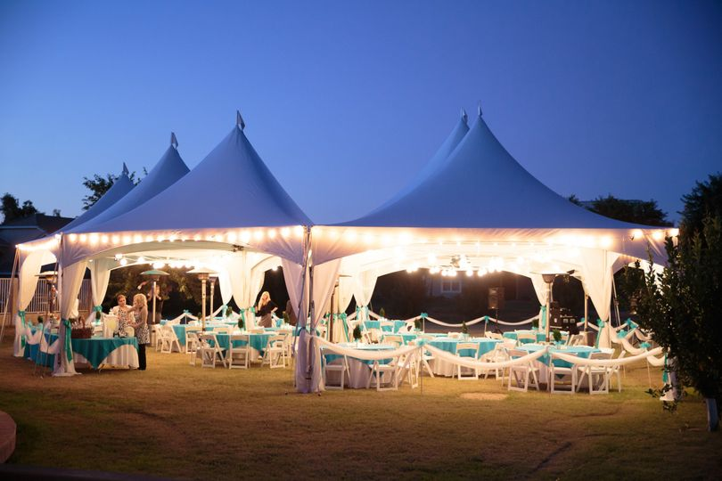 Tent wedding for 175 - Six (6) Marquee tents connected to cover 2,500 sq.ft.