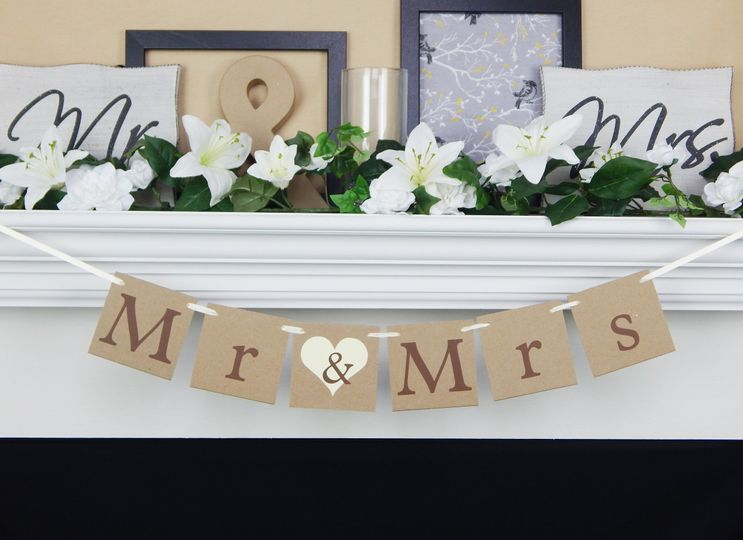 Rustic mr & mrs banner