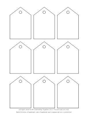 Printable blank favor tags