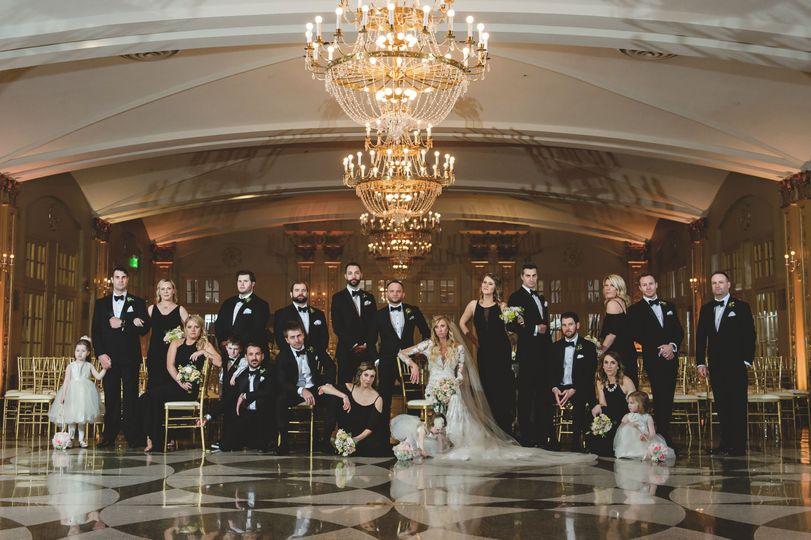 Glamorous wedding party