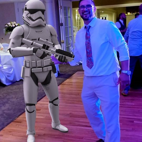 Groom & storm trooper