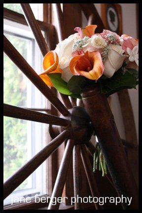 country setting for bridal bouquet