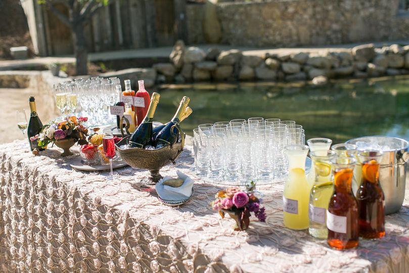 Outdoor cocktail bar